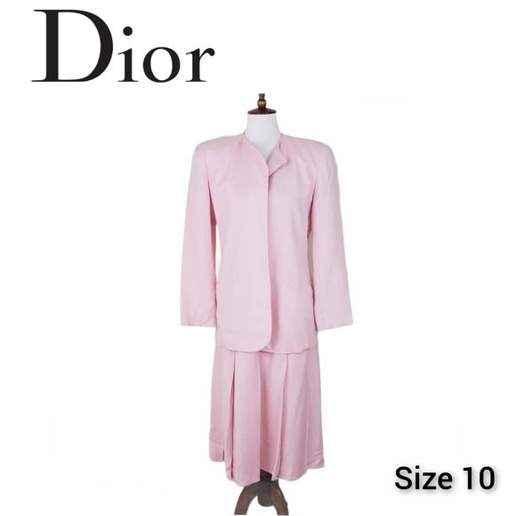 Christian Dior Pink Suit Skirt Vintage Size 10